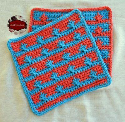 KatiDCreations Drop Spike Stitch Washcloth - Washcloth Challenge