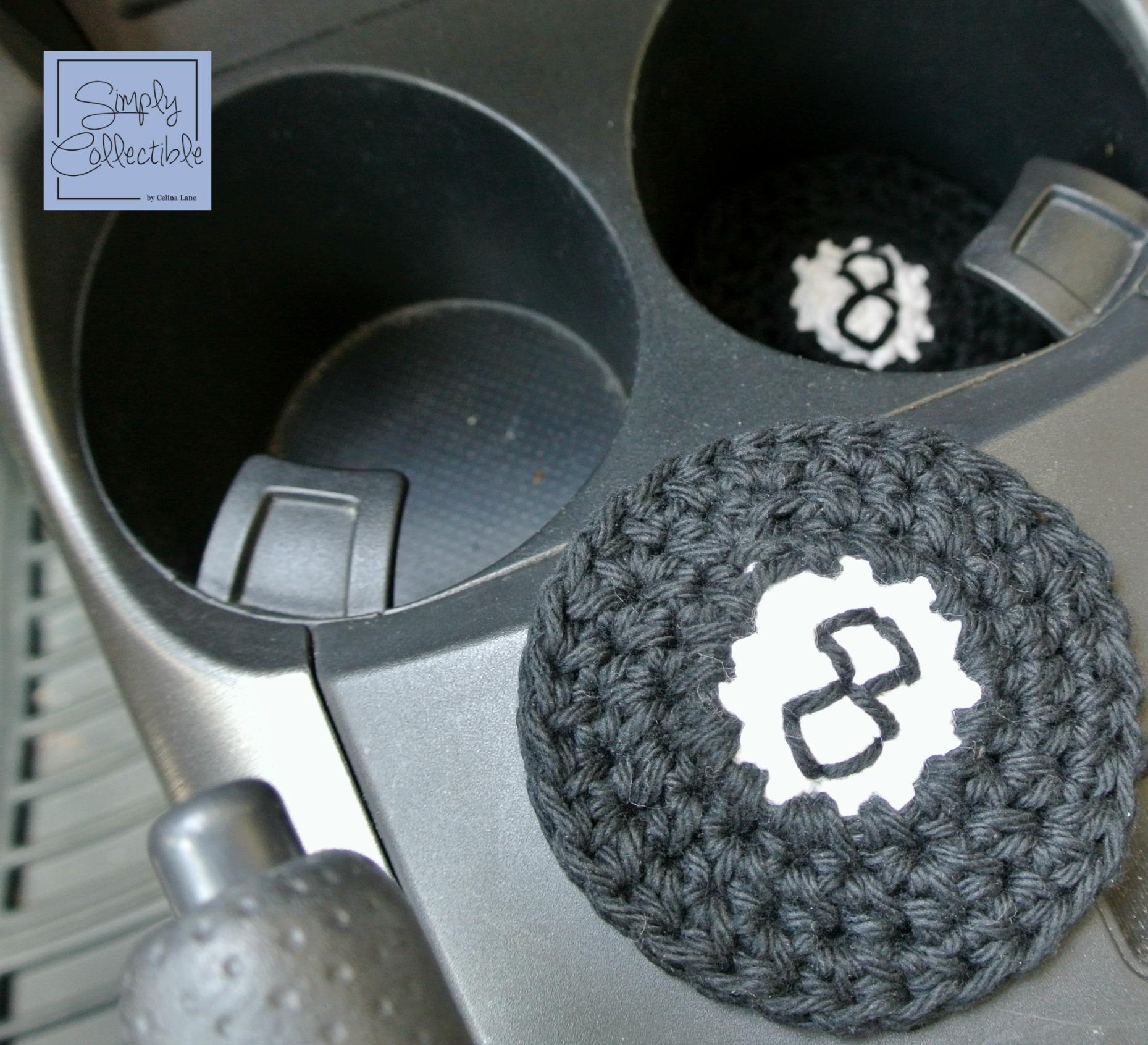 8-ball Applique or Coaster Crochet Pattern • Simply Collectible