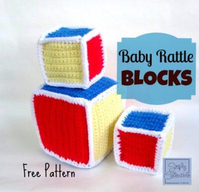 Baby Rattle Blocks – free crochet pattern