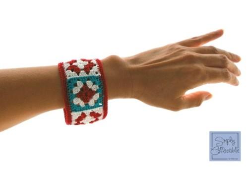 Not Granny's Bangle Bracelet crochet pattern