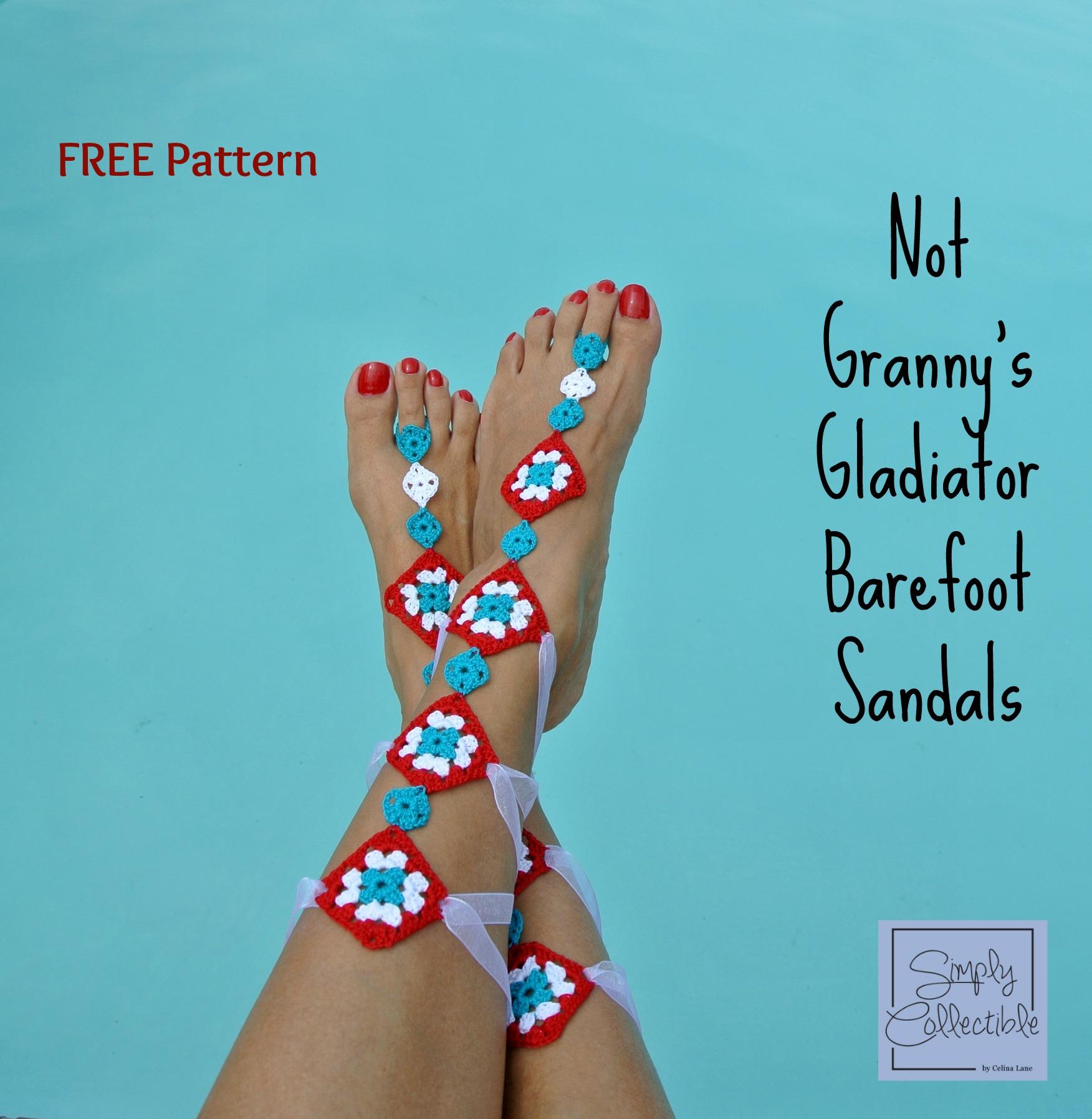 Not Grannys Gladiator Barefoot Sandals