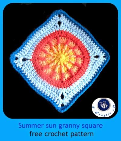 22 Granny Square Projects   Summer Sun Granny Square by Maz Kowk