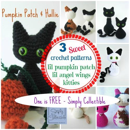 Crochet Patterns Kittens : Cat and Kitten in the Lil Pumpkin Patch Amigurumi Crochet Patterns ...
