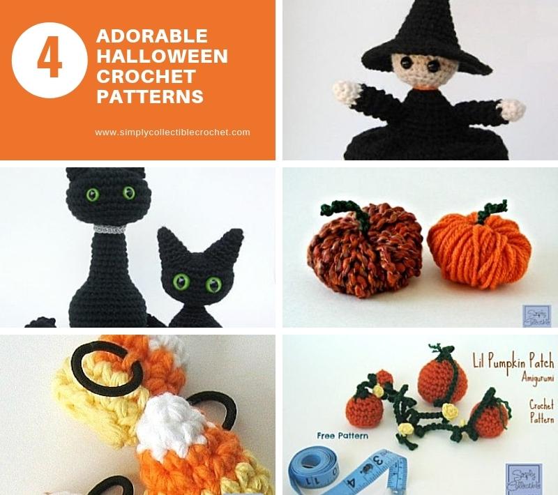 4 Adorable Halloween Crochet Patterns