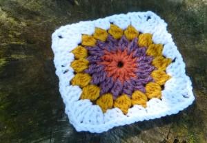 Starburst Motif #crochet pattern