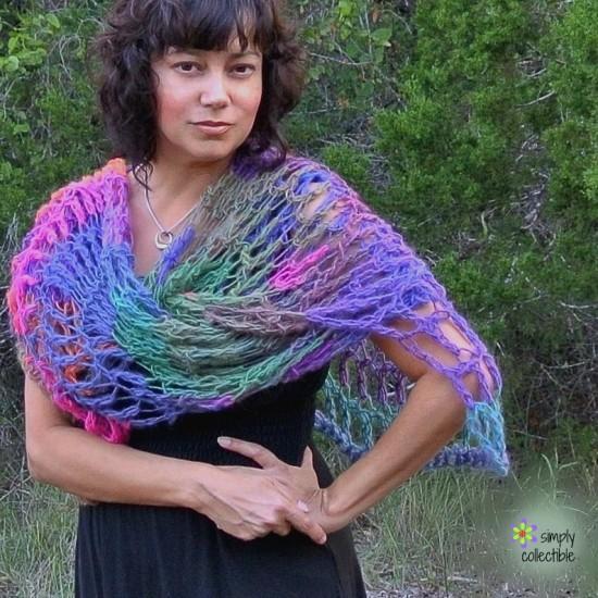 Penelope's Lacy Wrap free crochet pattern