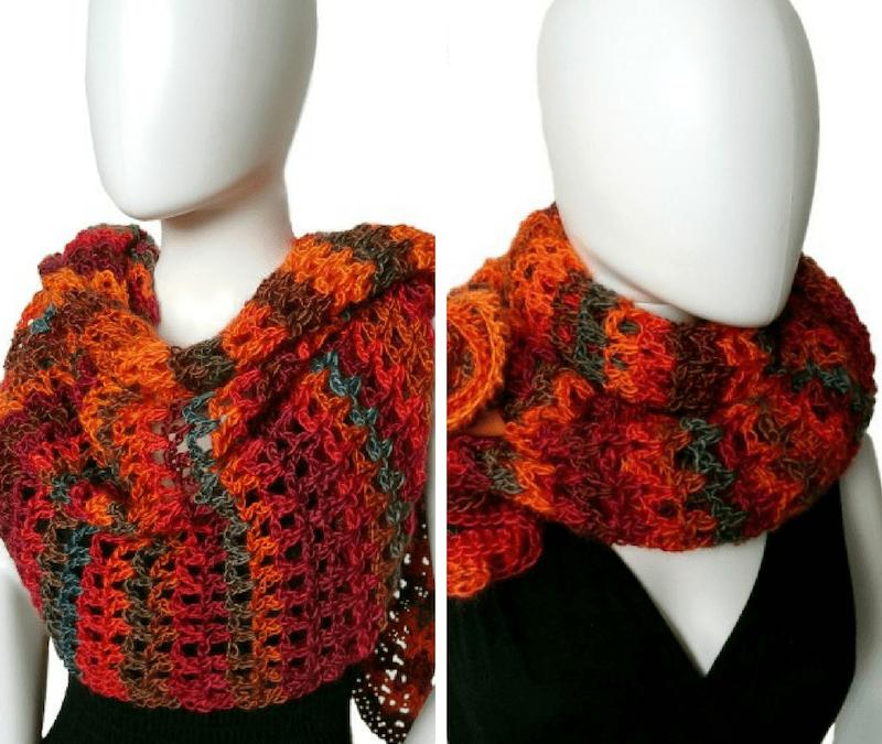 Coraline in Rio Mini Wrap crochet pattern