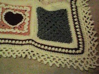 Afghan border crochet pattern