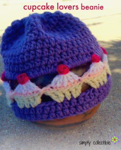 Cupcake Lovers Beanie free crochet pattern
