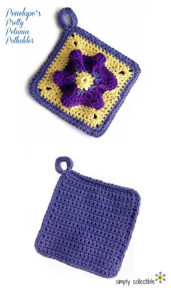 Penelopes Pretty Petunia Potholder Crochet Pattern Simply