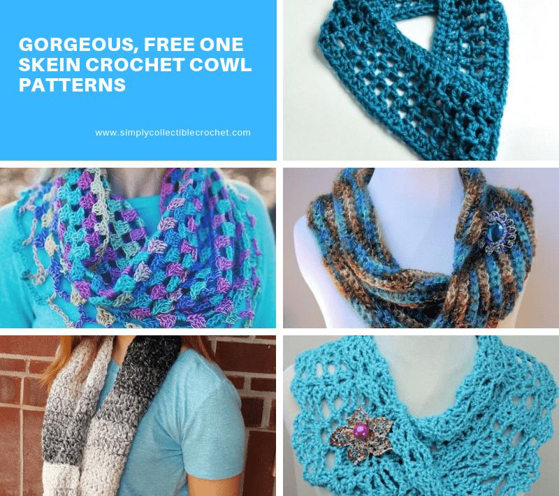 Gorgeous, Free One Skein crochet Cowl Patterns