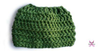 Super Bulky Oversized Messy Bun Hat crochet pattern by Celina Lane, CraftCoaltion.com