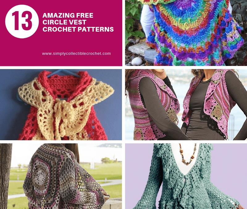 13 Amazing Free Circle Vest crochet patterns!