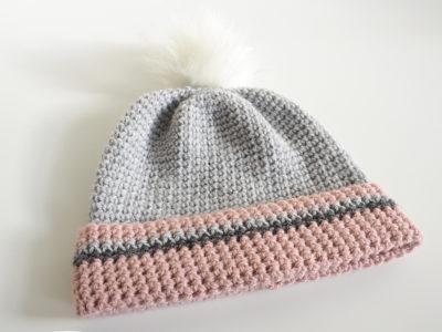 Simple Slouch Or Pom Pom Beanie Hat Crochet Pattern Simply