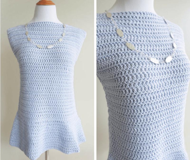 Peplum Top Crochet Pattern
