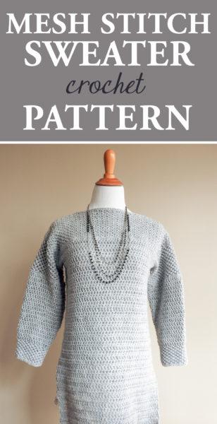 Mesh Stitch Sweater Crochet Pattern