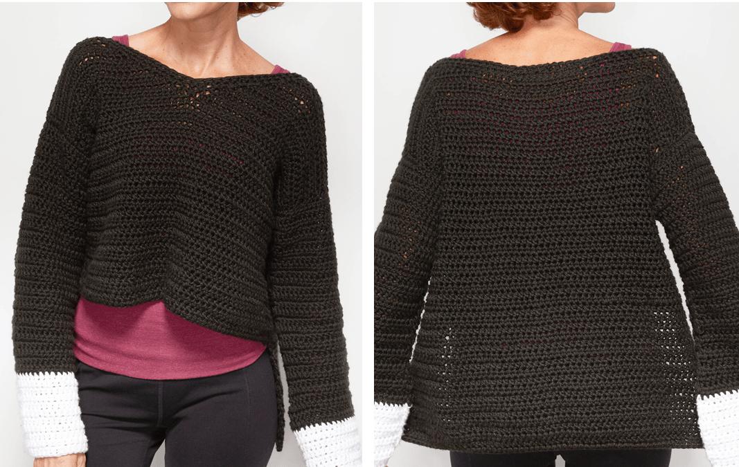 Wide Sleeve Sweater Crochet Pattern