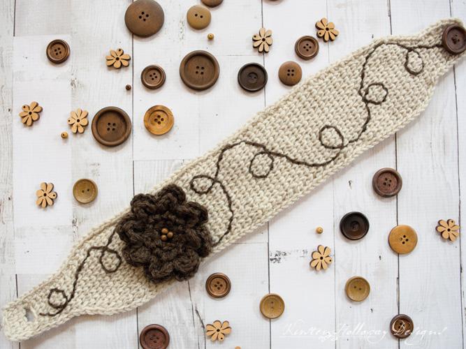 Waterlily Waltz Knit-look Headband Crochet Pattern