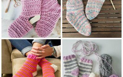 Our 12 Favorite Cozy Crochet Sock Patterns