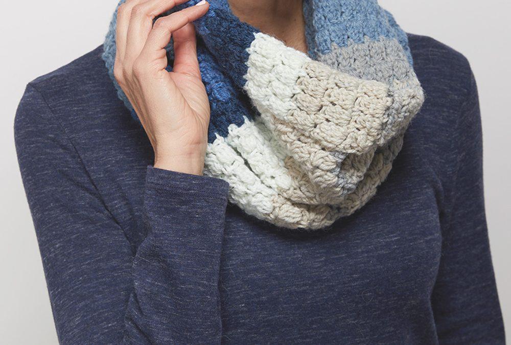 Cluster Stitch Cowl Crochet Pattern