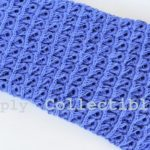 Simply Collectible | Broomstick Lace Baby Blanket #crochet pattern and tutorial