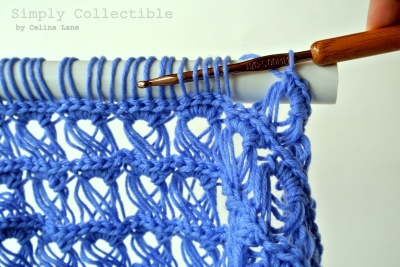 Broomstick Lace Baby Blanket Tutorial by Simply Collectible