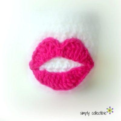 Perfect Lips Applique Free Crochet Pattern