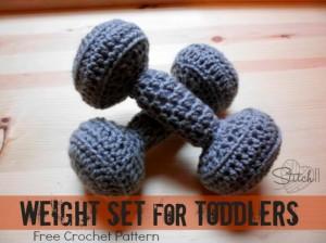 Stitch 11 - Free toy weight set crochet pattern