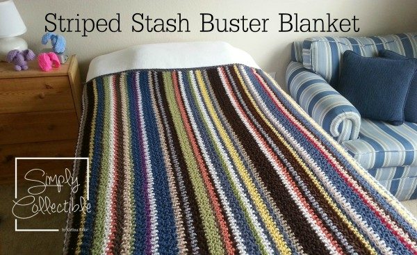 The Striped Stash Buster crochet Blanket pattern by SimplyCollectibleCrochet.com