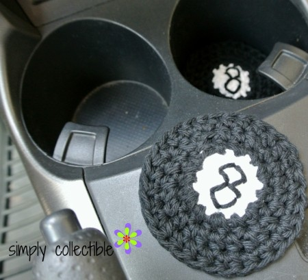 8-ball Coaster & Applique or Cup Holder Liner - Free Crochet Pattern by Simply Collectible