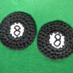 SimplyCollectibleCrochet.com | 8-Ball Motif & Cup Holder Liner