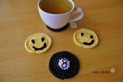 8-ball Applique or Coaster Crochet Pattern