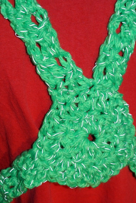 Red Heart Reflective Yarn Review by Simply Collectible   Free pattern for Reflective Safety Harness is available.
