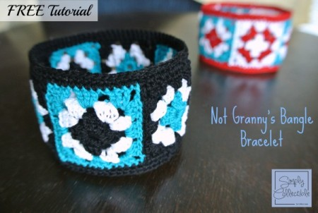 Not Granny's Bangle Bracelet | Free Tutorial by Celina Lane, SimplyCollectibleCrochet.com