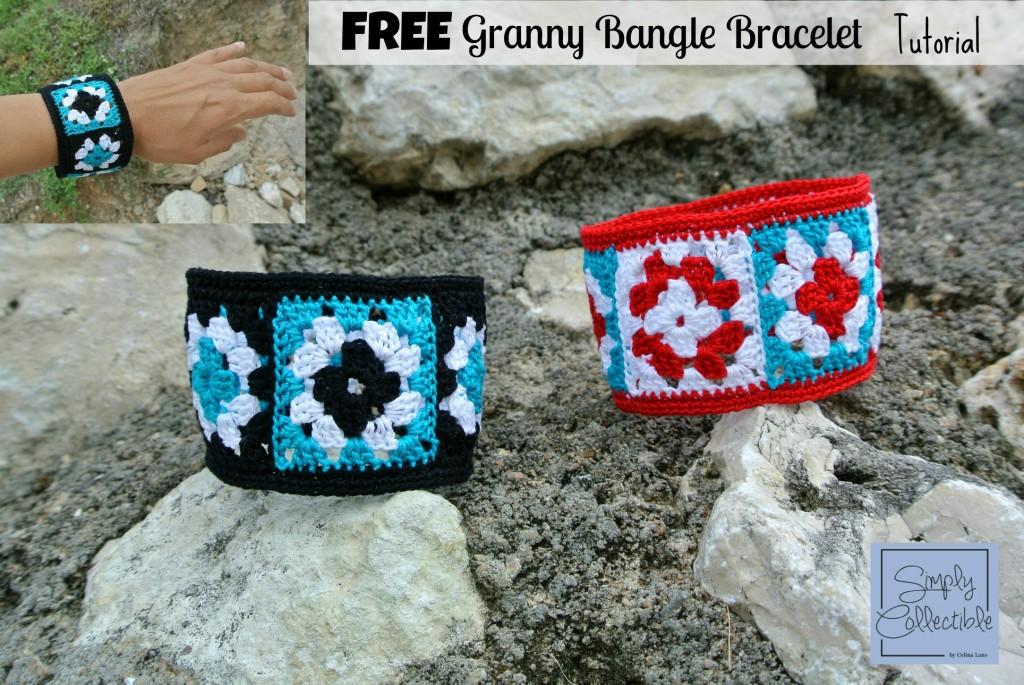 Not Granny's Bangle Bracelet   Free Tutorial by Celina Lane, SimplyCollectibleCrochet.com