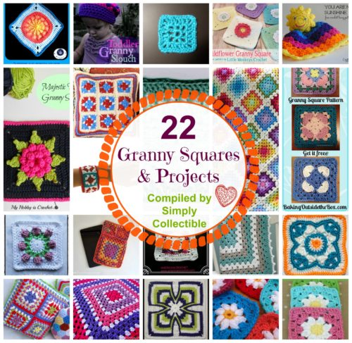 22 Granny Squares & Projects found at SimplyCollectibleCrochet.com
