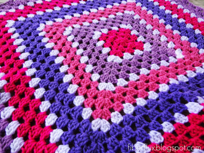 22 Granny Square Projects | Berry Season Blanket by Fiber Flux