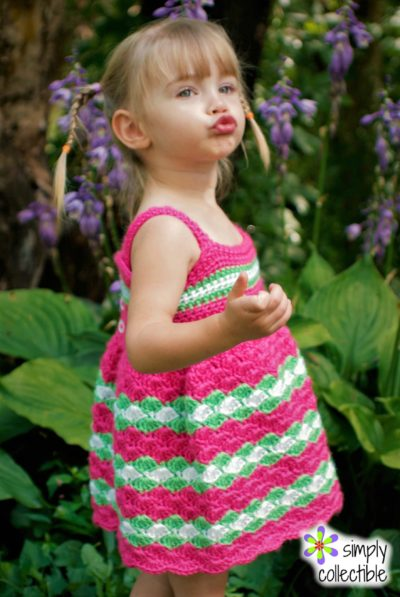 Crochet Baby Dress Pattern - Garden Party Dress, SimplyCollectibleCrochet.com