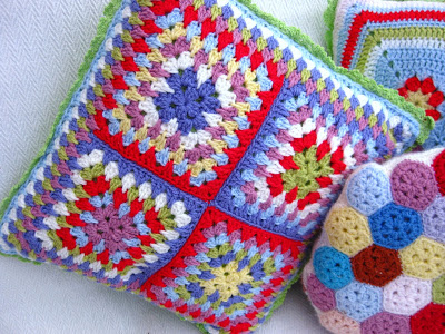 22 Granny Square Projects | Granny Spike Pillow by Bunny Mummy Jacquie