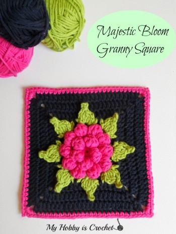 22 Granny Square Projects | Majestic Dahlia Bloom Granny Square by My Hobby is Crochet
