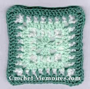 22 Granny Square Projects | Mint Delight Granny Square by Crochet Memories