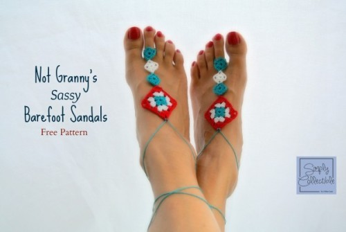 Not Granny's Sassy Barefoot Sandals