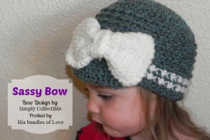 Sassy Bow | Free Pattern by Celina Lane, SimplyCollectibleCrochet.com