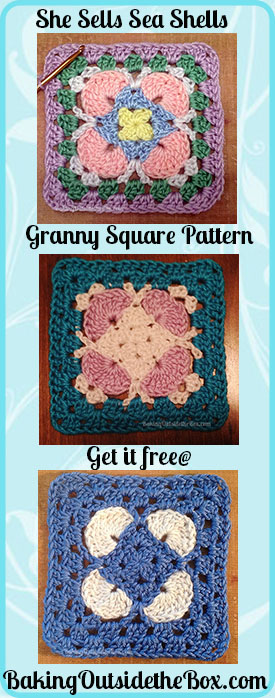 22 Granny Square Projects | She Sells Sea Shells granny square by Baking Outside The Box
