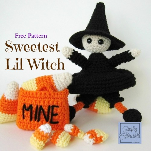 Sweetest Lil Witch, free crochet pattern by Celina Lane, SimplyCollectibleCrochet.com |- It's FREE so you can make your own decor or gifts.