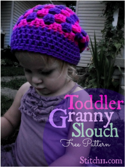 22 Granny Square Projects | Toddler Granny Slouch by Stitch 11