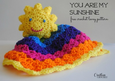22 Granny Square Projects | You Are My Sunshine Lovey by Crochet Cre8tion
