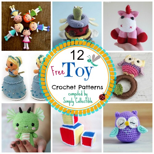 Beginner Crochet Patterns For Baby Toys : 12 Adorable Free Toy Crochet Patterns Simply Collectible