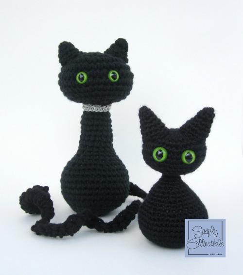 Hallie Cat & Kitten Amigurumi #crochet pattern by Celina Lane, SimplyCollectibleCrochet.com