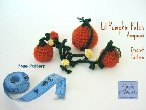 Free Pumpkin Patch Amigurumi #Crochet Pattern by Celina Lane, Simply Collectible